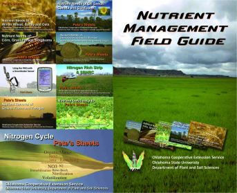 Pete Sheets for business card size tent cards Fact-Sheet/Research based information.  The Nutrient Management Field Guide is a spiral bound compilation.