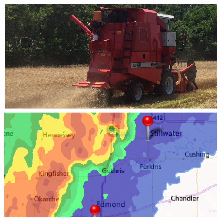 This harvest was spent watching the radar and going where the weather allowed.